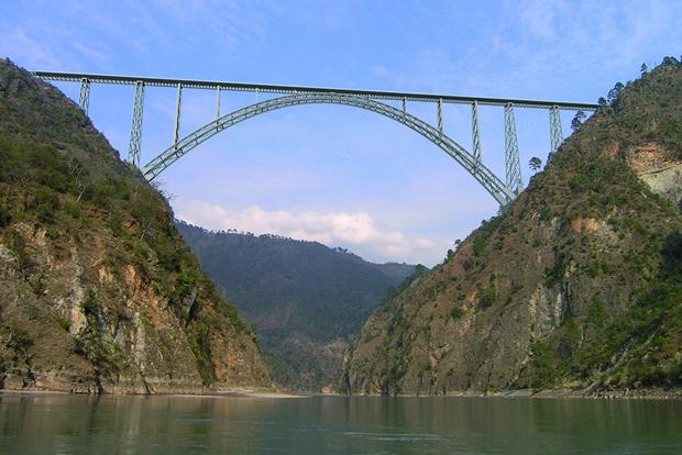 Afcons – Special Bridge over River Chenab -J&K Worlds Highest Rail Bridge.