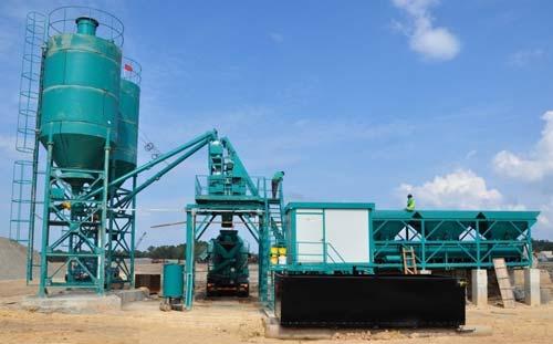 concrete pump batching plant